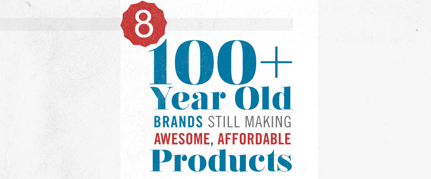 Eight 100+ Year Old Brands That Still Make Awesome, Affordable Products