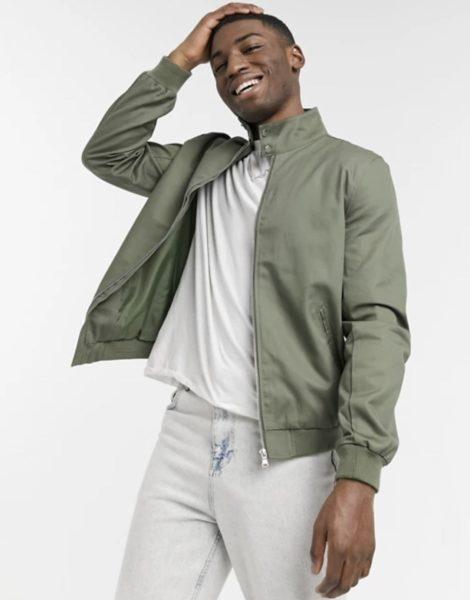 asos green harrington jacket