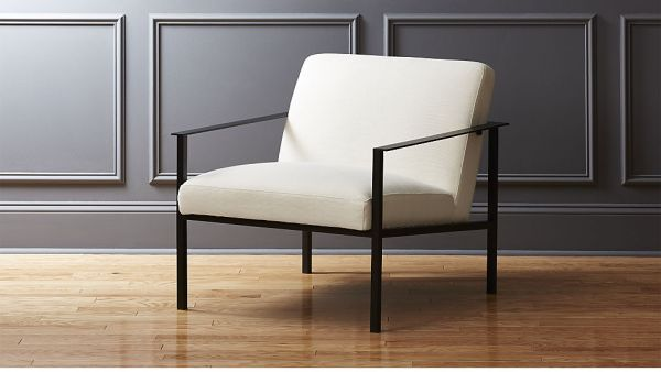 cue chair with black legs, $499