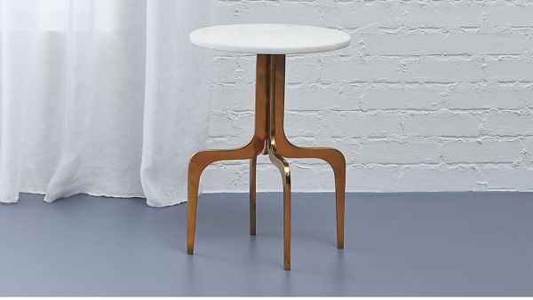 dorset marble side table, $199