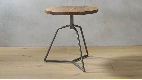 dot acacia side table-stool, $199