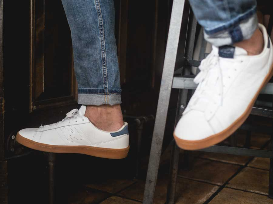 new balance gum sole sneaker