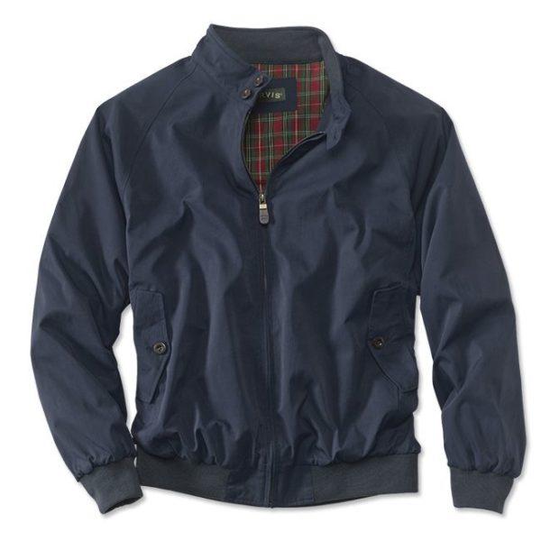 navy blue orvis harrington jacket