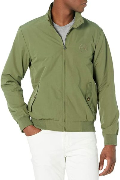 quicksilver green harrington style jacket