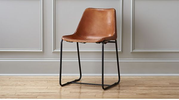 roadhouse leather chair, $249