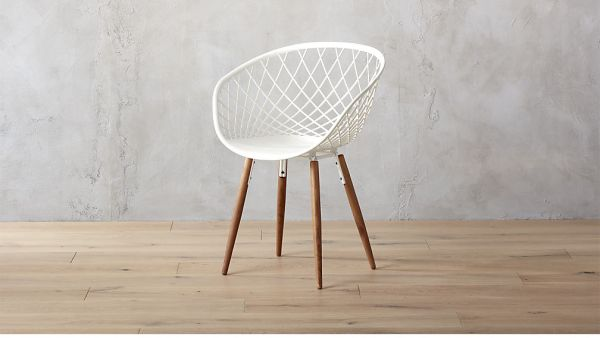 sidera white chair, $249