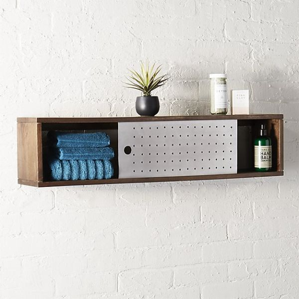 slide wall mounted shelf, $119