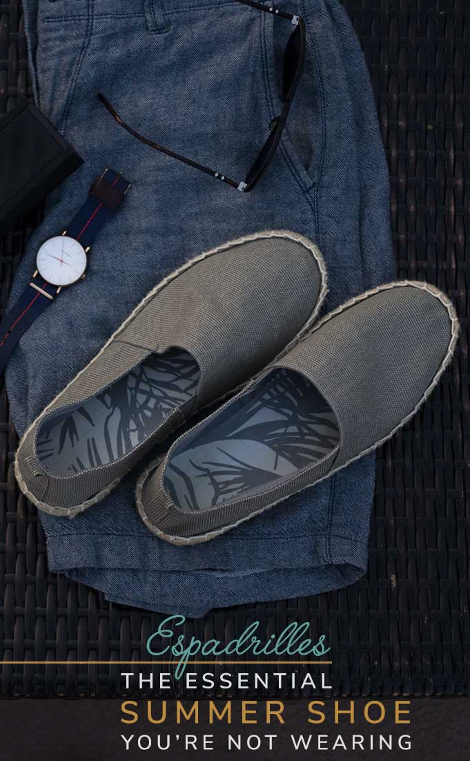 Canvas Espadrilles: The Essential Men's Summer Shoes