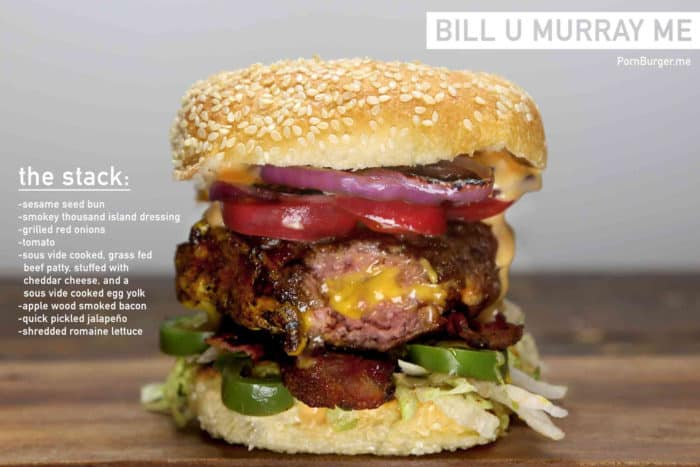 Outrageous, creative burger stack from Chef Matthew Ramsey
