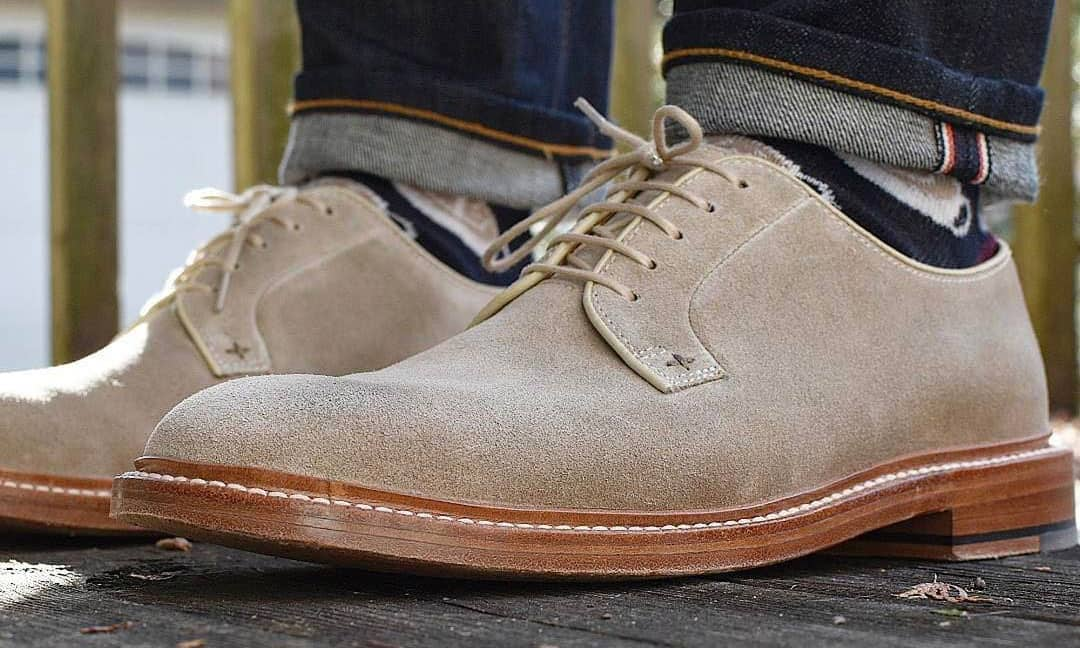 Suede buck shoes