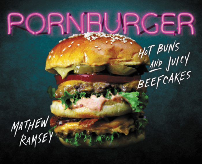 Cover of the PornBurger coffee table book
