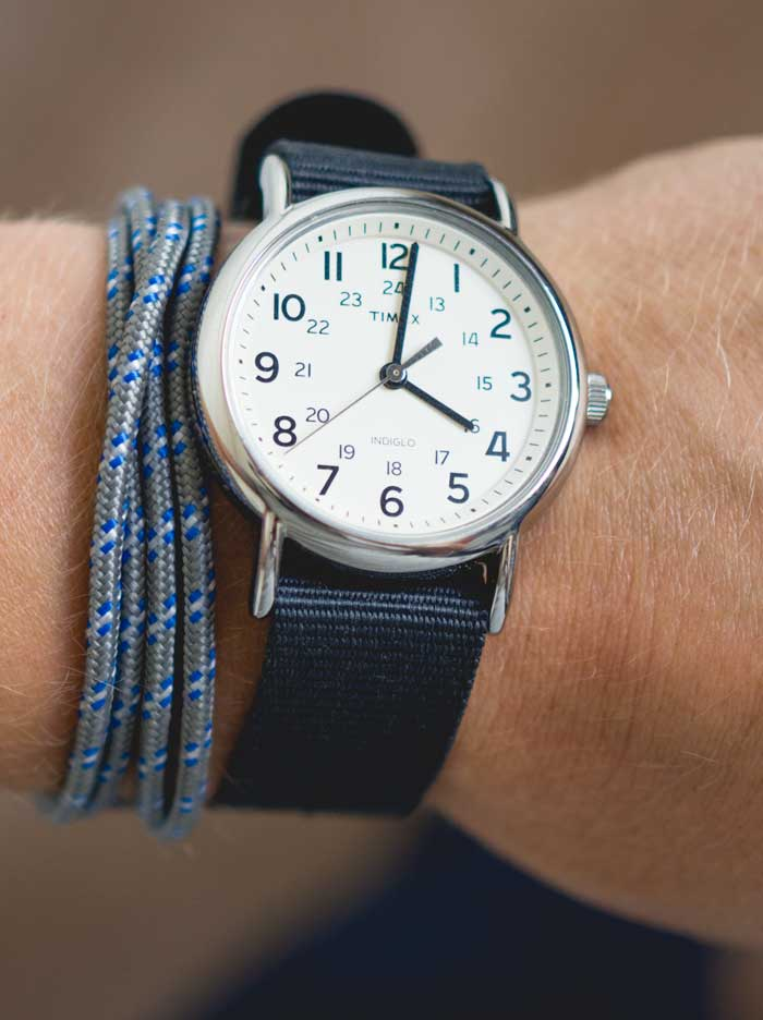 timex weekender gray with anchor bracelet men
