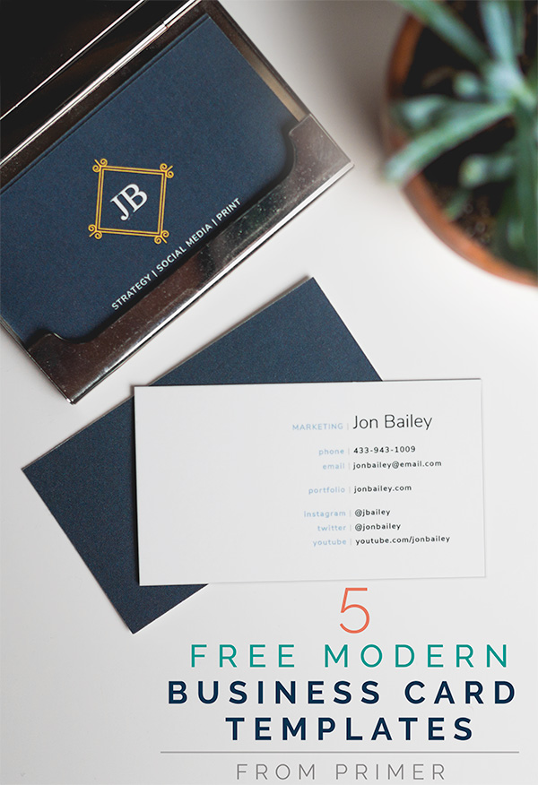 5 free modern business card templates why business cards for Free modern business card templates