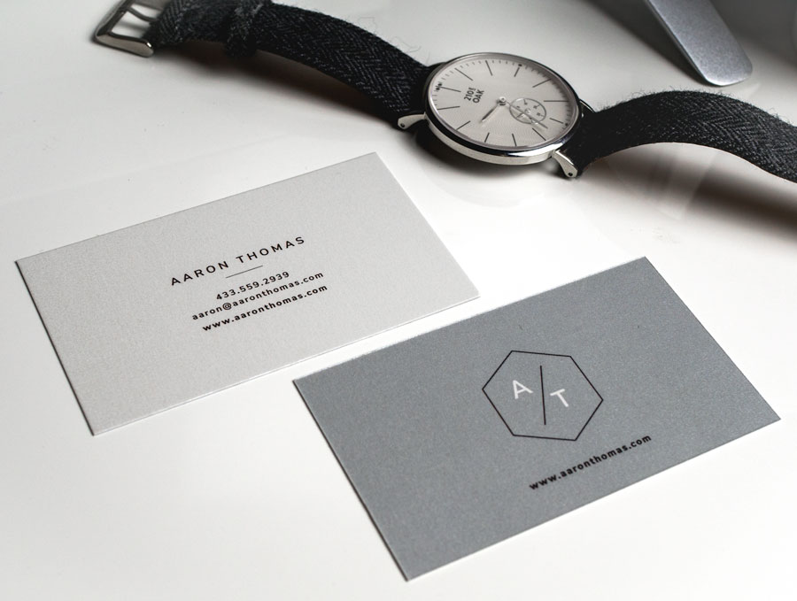 free business card templates gray