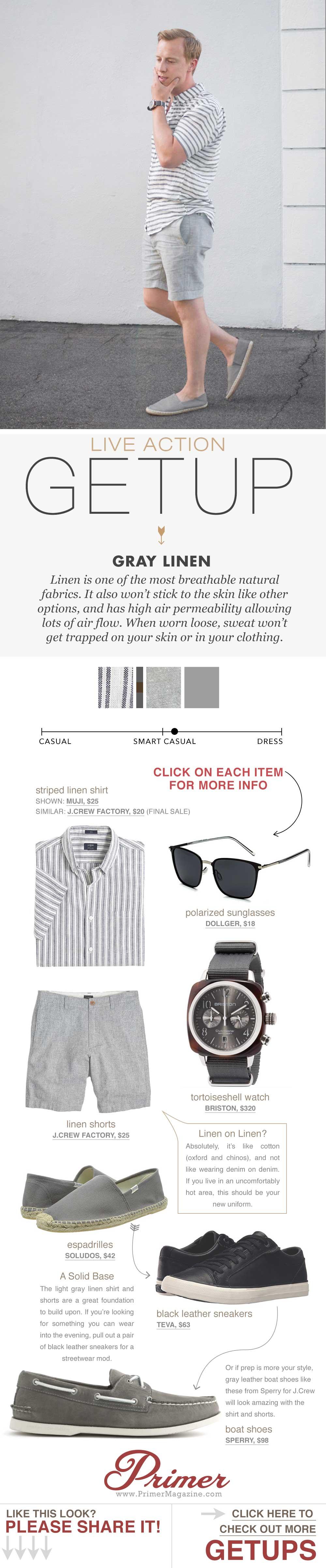 Getup outfit inspiration featuring a linen shirt