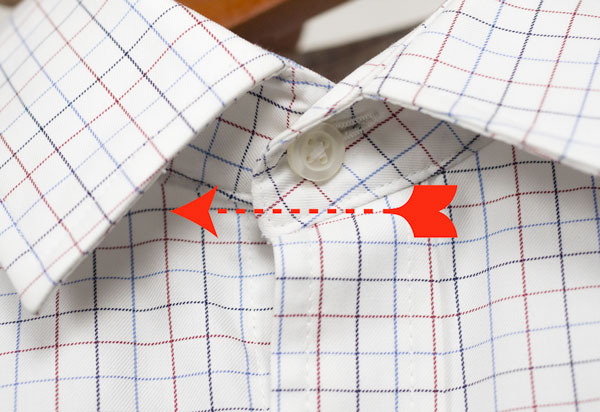 move dress shirt collar button