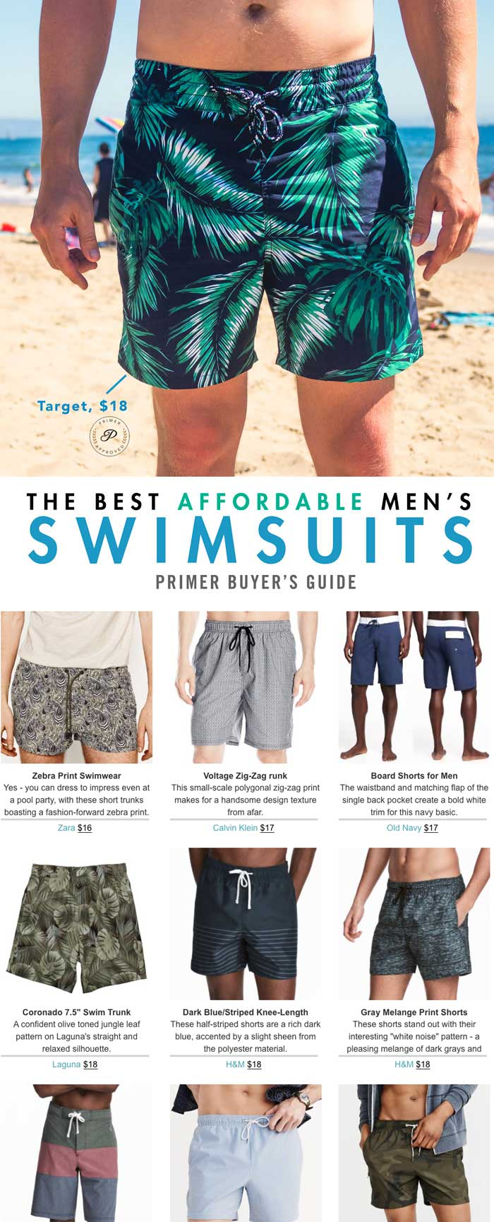 d575bc060b The Best Affordable Men's Swim Trunks | Primer