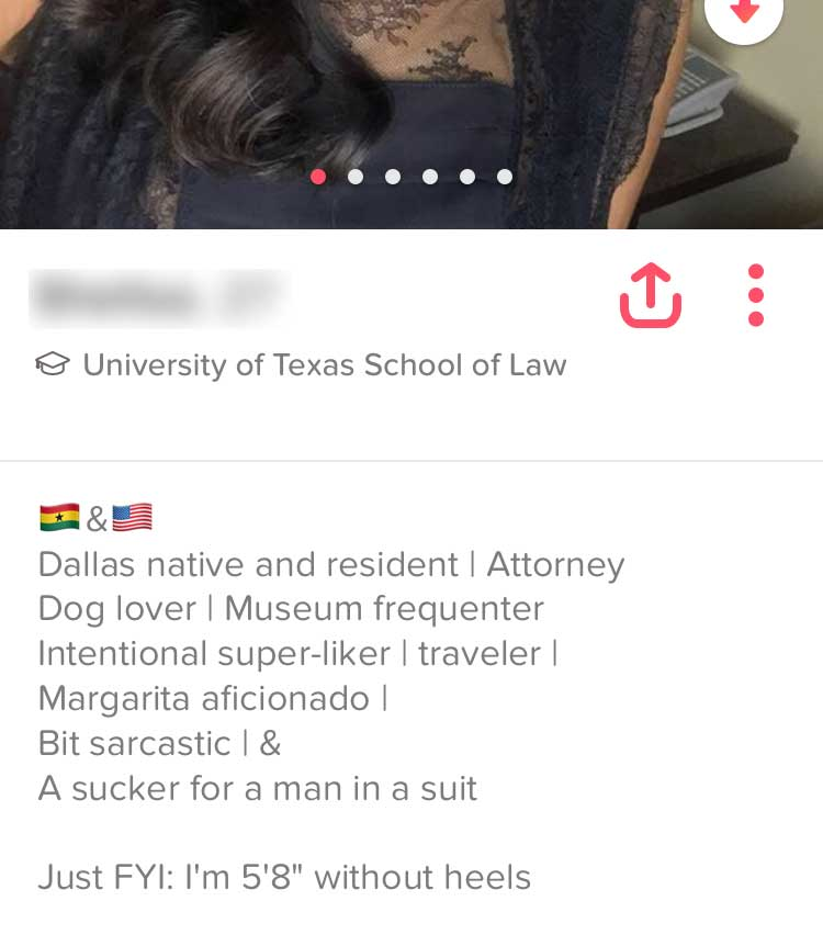 tinder profile messages