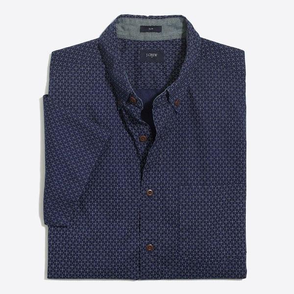 Pattern blue shirt