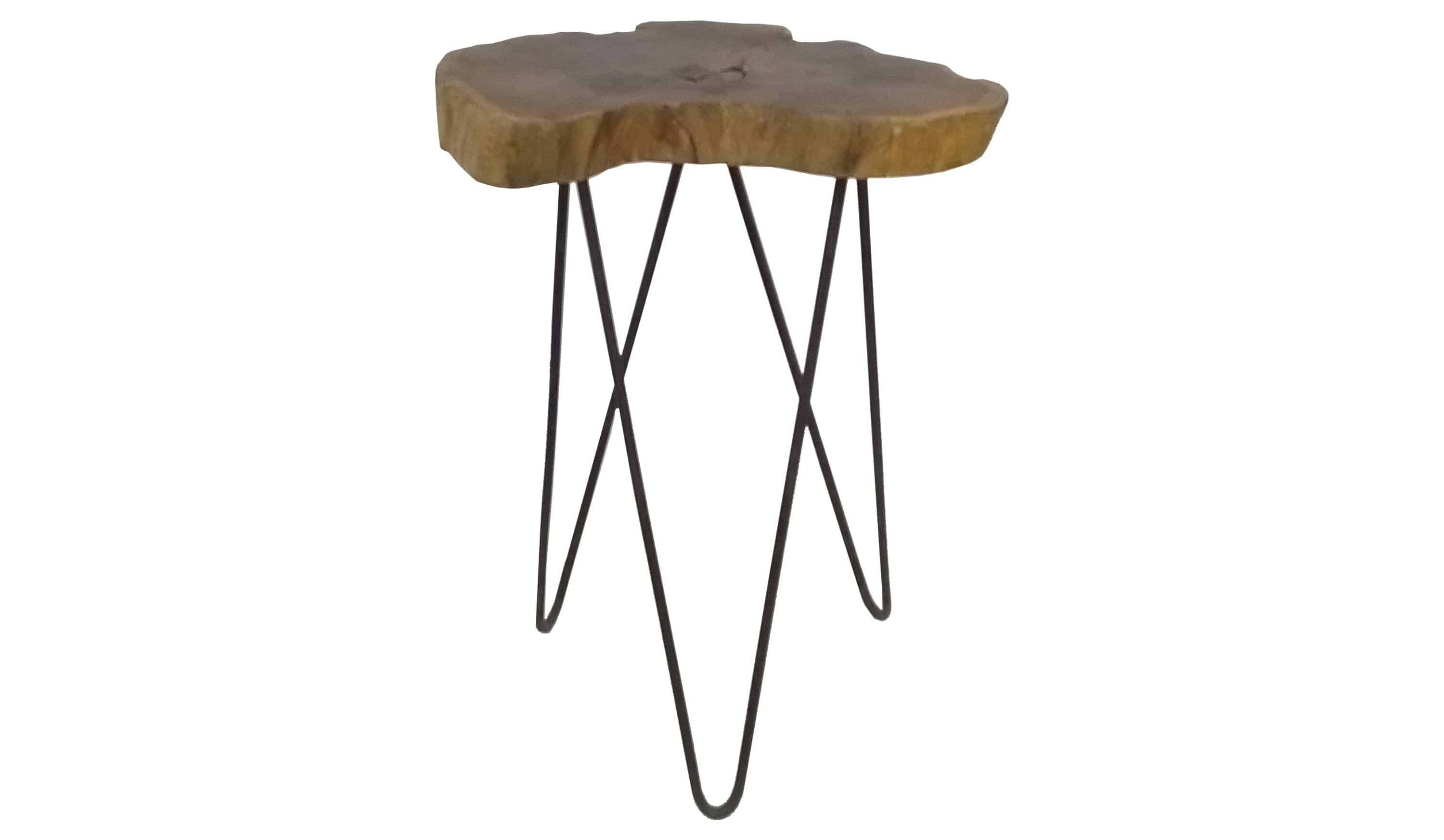A close up of a side table