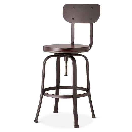 A close up of a stool