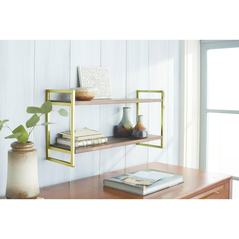 A wooden shelf