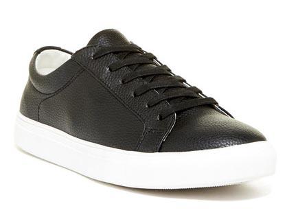 A pair of black sneakers