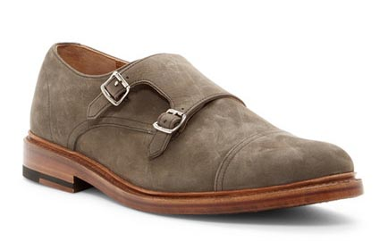 A pair of monk strap shoes