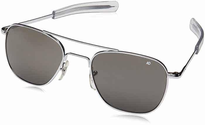 A close up of Aviator sunglasses