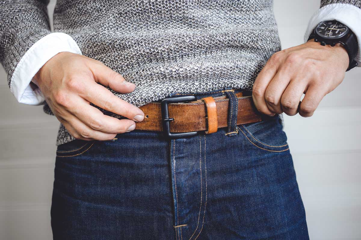 diy men's belt