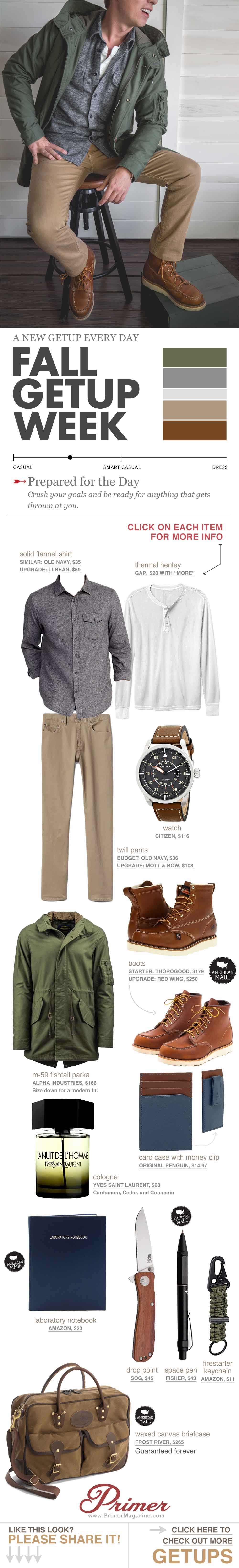 men's fall fashion inspiraiton rugged outfit - flannel with henley and boots