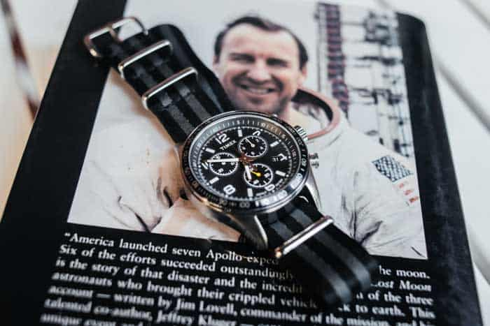 Timex Watch on photo of astronaut
