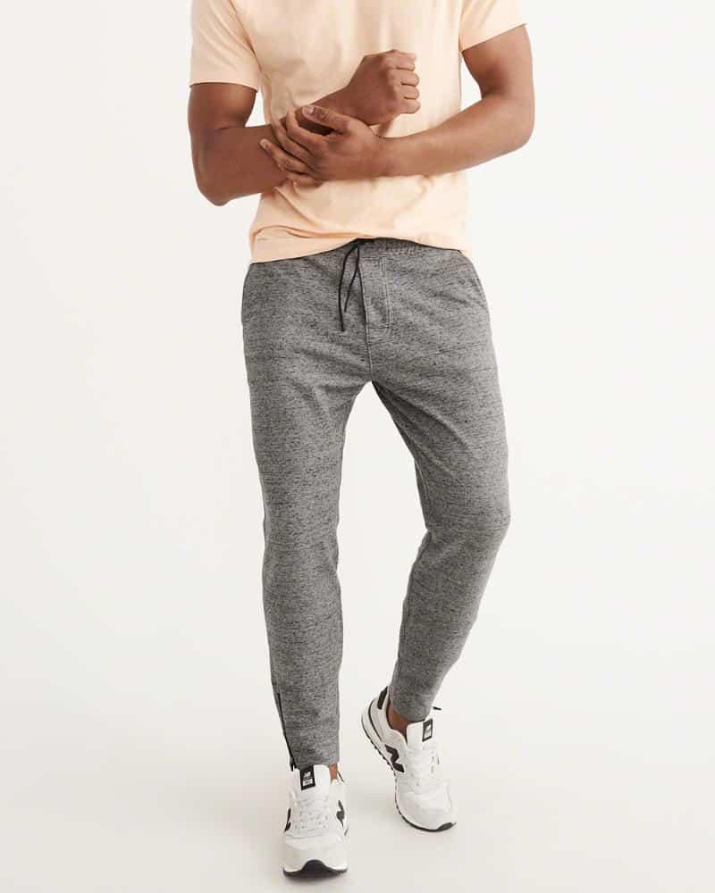 Marled gray workout pants