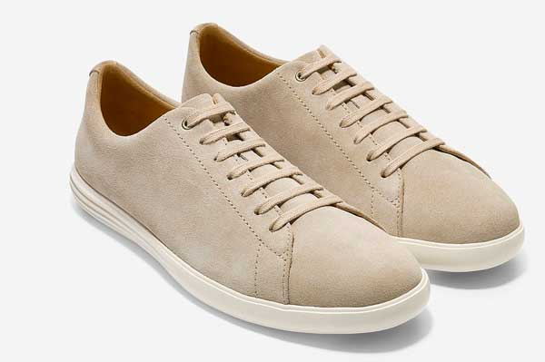 Tan suede sneakers