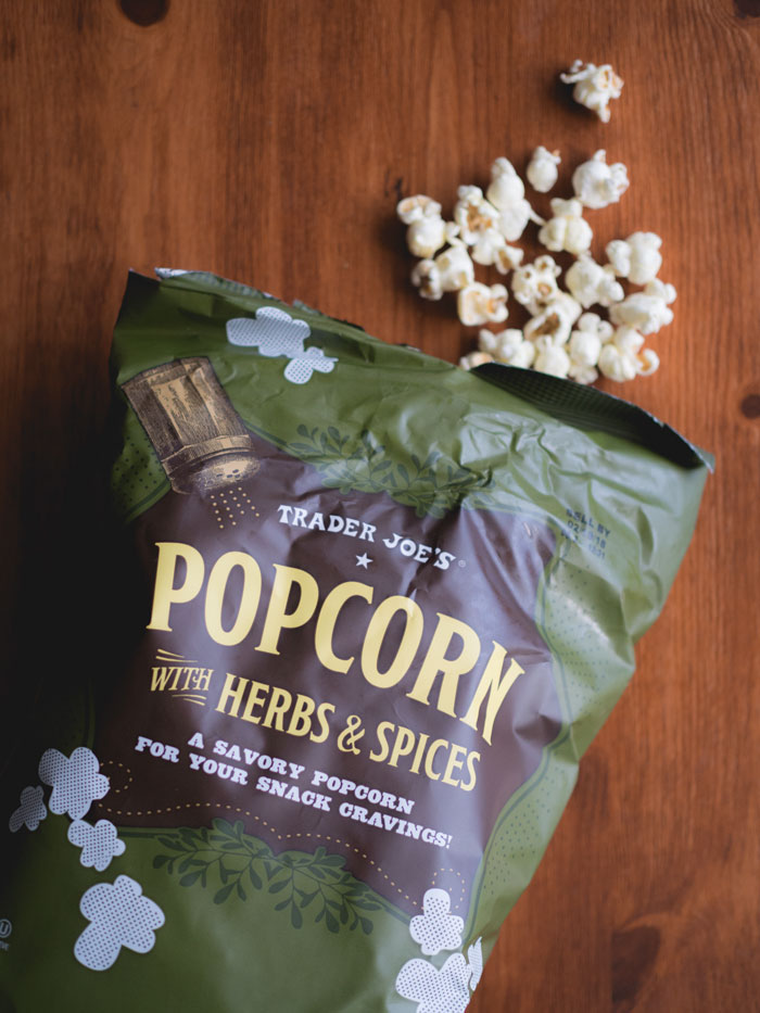 Trader Joes Popcorn with Herbs & Sprices