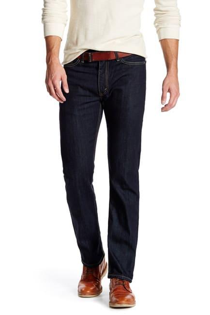 A man modeling jeans