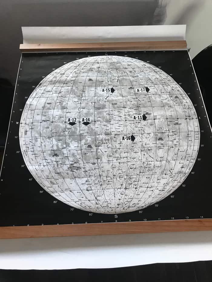 Lunar map and frame