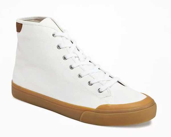 High top gum sole sneakers