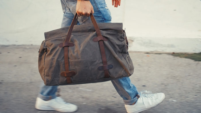 affordable waxed canvas duffel