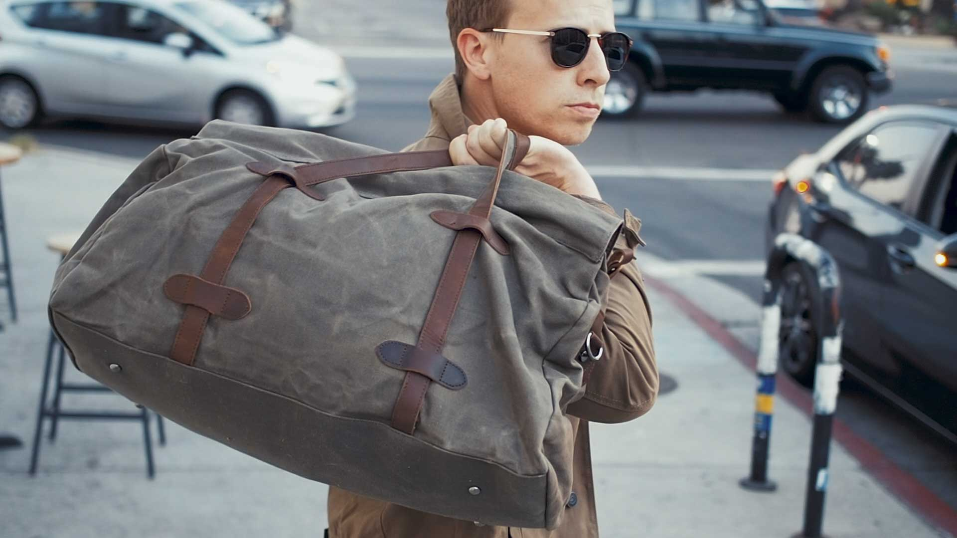 s-zone waded canvas weekender duffel