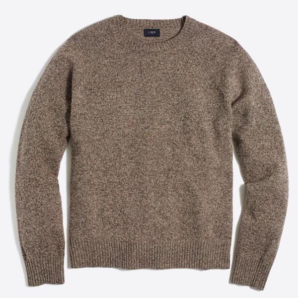 A brown sweater