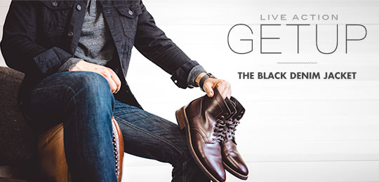 Live Action Getup: The Black Denim Jacket