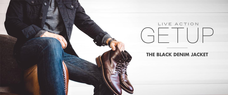 Live Action Getup: The Black Denim Jacket