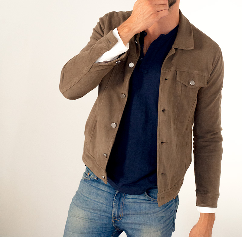 suede leather trucker jacket