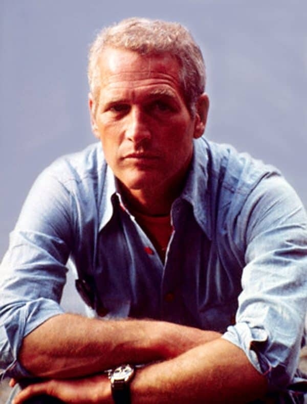 Image of Paul Newman wearing his classic Daytona watch