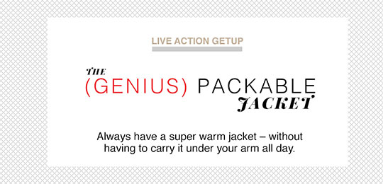 Live Action Getup: The (Genius) Packable Jacket