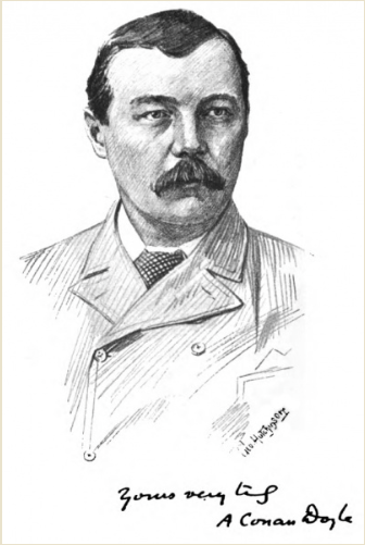 Arthur conan doyle drawing