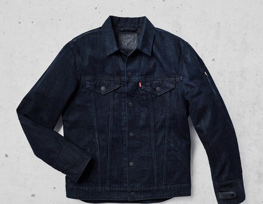 levi's jacquard trucker jacket