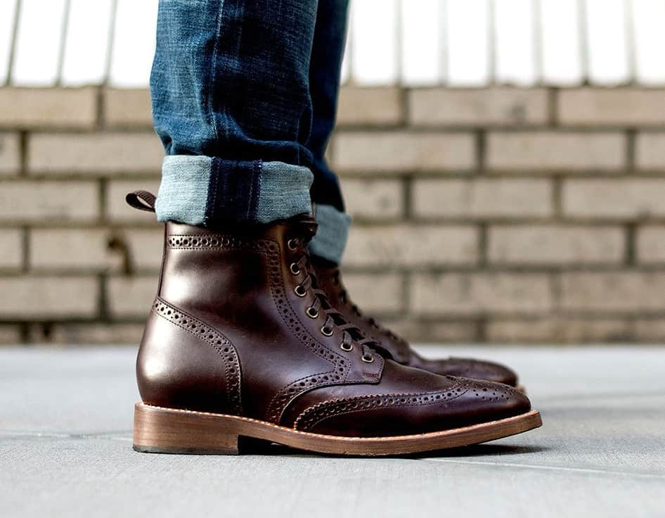 men affordable wingtip boot