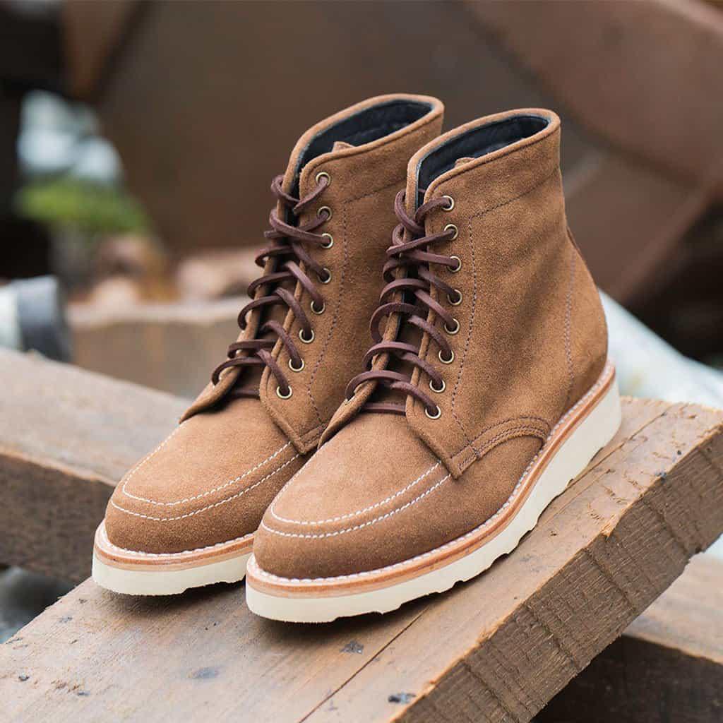 top men boot styles wedge moc toe